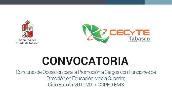 Convocatoria examen de oposicion 2016 2017 for Convocatoria concurso docente 2016